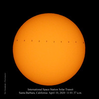 ISS Solar Transit April 10, 2020 Santa Barbara, CA